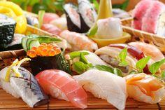 Sushi, nigiri-sushi, hand-rolled  sushi.