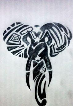 Tattoo elephant head tribal 57 Ideas for 2019 Arrow Tattoos, Dog Tattoos, Tribal Tattoos, Sleeve Tattoos, Elephant Head Tattoo, Elephant Tattoo Design, Tribal Elephant, Thai Elephant, Note Tattoo