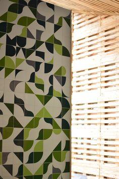 combinação de cores e padrão simples