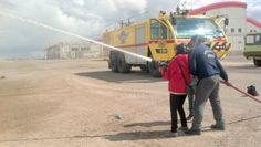 #Oruro #Aeropuerto ¿Jugando con agua?