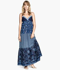 100% maxi cotton dress H&M