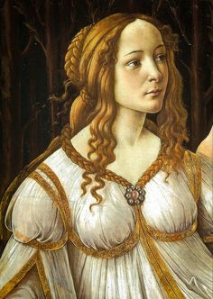 Sandro Botticelli - A Close-up of Venus and Mars, 1485 at The National Gallery London England by mbell1975, via Flickr  dress detail