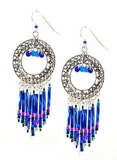 Jewelry Making Idea: Firework Fringe Earrings (eebeads.com) 4th of july?