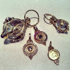 Temple St. Clair! #amulet #sapphires #moonstone #angel #diamond #jewels #gold #instajewel #instagem #need #want #covet #charm