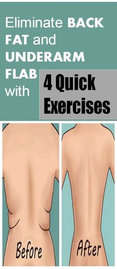 Eliminate Back Fat and Underarm Flab with 4 Quick Exercises – Health n Tips