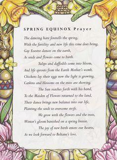 Spring Equinox: #Spring #Equinox Prayer.