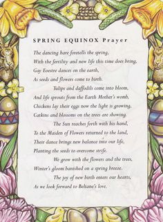 Spring Equinox:  #Spring #Equinox Prayer.  www.naturelinks.co.uk