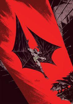 "black-box-comics: "" Dark Knight 75 by Mateus Santolouco More comic art at Black Box "" Batman Artwork, Batman Comic Art, Im Batman, Batman Comics, Batman Robin, Batman Stuff, Gotham Batman, Comic Book Characters, Comic Character"