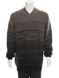 Bottega Veneta Patterned Cashmere Sweater w/ Tags | Mens Cashmere ...