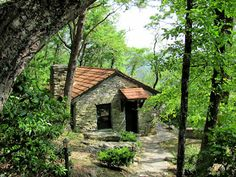 A cabin up on Mt. Cheaha.  Highest point in Alabama.