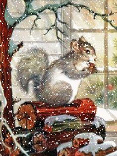 new england snow scenes | Animated Christmas Screensavers 240x320