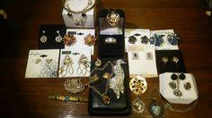 Vintage Jewelry Lot - Swarovski, Sterling Silver, Enamel, West Germany, Taxco #Swarovski