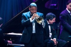 The majesty of Wynton Marsalis. The GRAMMY-winning trumpeter mesmerizes during a performance at the 2014 Jazz at Lincoln Center Gala on May 1 in New York