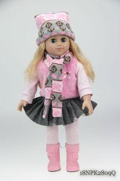 "18""American Girl Doll Reborn Baby Girl In Silicone Vinyl Lifelike american girl doll"