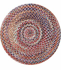 Cat's Eye Chenille Braided Round Rug