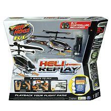 Air Hogs Heli Replay Radio Control Helicopter - Black/Silver/Orange
