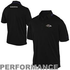 Mens Nike Baltimore Ravens Elite Coaches Black Sideline Performance Polo 907c93056