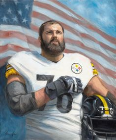 051e3fb652e Alejandro Villanueva - Christopher Panza - Paintings   Prints Sports    Hobbies Football - ArtPal