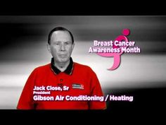 """Breast Cancer Awareness Public Service Announcement - Gibson Air - """"Because at Gibson Air We Care"""": Share our BREAST CANCER Public Service Announcement video on any social media network to receive a 10% discount on your #HVAC repairs or maintenance for the month of October! Call 702-388-7771 to schedule service today in the Las Vegas and Henderson Nevada area!"""