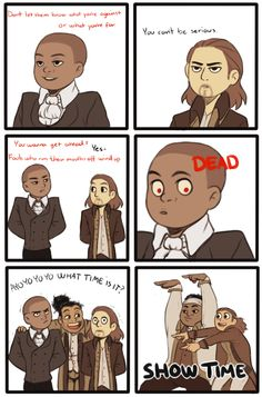 "Second panel of ""Aaron Burr, Sir"" Hamilton comic by escalusia."