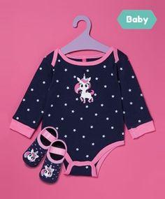 Bebês - Ofertas em Roupas - Dinda - Dinda.com.br. Kit Body e Sapatilha Bebê  Azul Marinho ... 2e039590cbb7