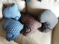 Blue and Brown shweshwe Africa pillows