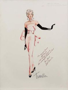 Iconic Travilla Fashion Design: One of Marilyn Monroe rare costumes #fashiongown