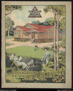 Historical poster - Queenslander homes. #Queensland