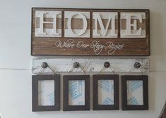 Rustic HOME sign Home Where our story begins Brown home