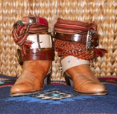 Vintage Cowboy Boots with Western Belts