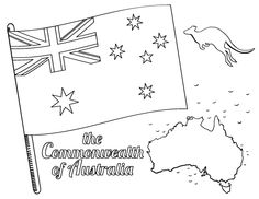 Printable Australian Flag Coloring Page Free PDF Download At Coloringcafe
