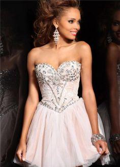 c6a22cf486 Luxurious Princess Sweetheart Natural Waist Beading Short Mini Organza  Wedding Party dress HD-9300. Sherri Hill Short DressesCheap Homecoming ...