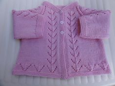 Pink Cardi by Filomena Lanzara FREE PATTERN sweet little knit for baby 0-3 months