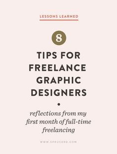 8 Tips for Freelance Graphic Designers | Spruce Rd.