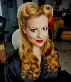 half up victory rolls pin up updo