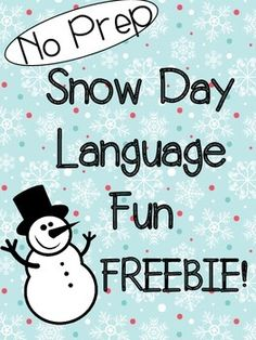 Enjoy your snow day knowing that you have activities in hand for when you get back!  These three worksheets cover attributes, sequencing and categories with a snow day theme.  You can even bring snow into the therapy room for the attributes activity and instant hot chocolate/marshmallows to aid with the sequencing.