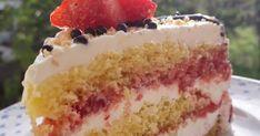 ·     🍓🍓🍓Φραουλένια Τούρτα 🍓🍓🍓   💖Λατρεία 💖 🍓🍓🍓Δροσερή και πεντανόστιμη 🍓🍓🍓 Παντεσπάνι Χτυπάμε 6 αυγά.  Ρίχνουμε 250γρ. ζάχαρ... Cookbook Recipes, Dessert Recipes, Cooking Recipes, Greek Sweets, Surprise Cake, Food Gallery, Greek Recipes, Beautiful Cakes, Vanilla Cake