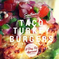 Taco Turkey Burgers 21 Day Fix