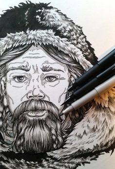 Pen Drawing made with Faber Castell Pitt Pens