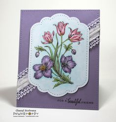 Sunset Sway digital stamp set by Power Poppy, card design by Cheryl Scrivens.