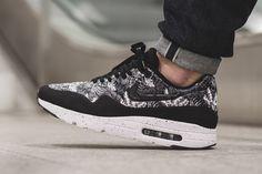 "Nike Air Max 1 Ultra Moire ""Monochrome Floral"" (Black, Grey & White) - EU Kicks: Sneaker Magazine"