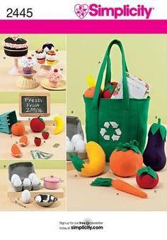 felt groceries; shopping bags