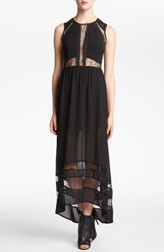 ASTR Lace Inset Maxi Dress | Nordstrom
