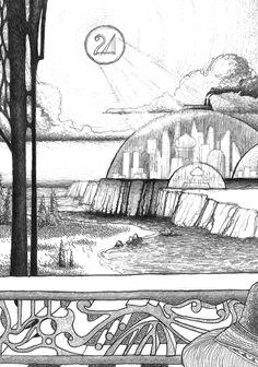 Ciudad de Ra. Lápiz mecánico, año 1997. #dibujos #lápiz #ilustración