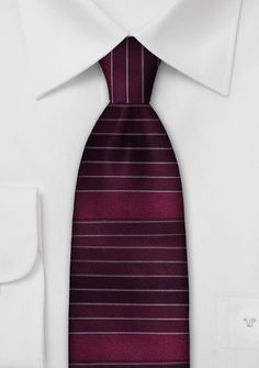 Horizontal Stripe Designer Silk Tie - Already own a bunch of striped neckties? Then how about adding another, very unusual piece to your striped necktie collection? Silk Ties, Design, Bows, Dark Red, Grey, Striped Ties, Stripe Pattern, Colors, Arches