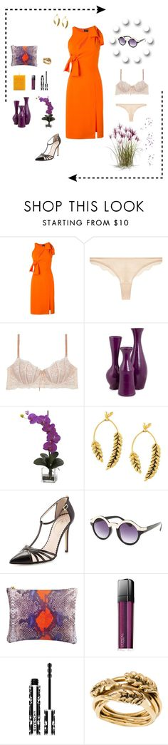 """""""Untitled #412"""" by xocolate ❤ liked on Polyvore featuring Versace, STELLA McCARTNEY, Heidi Klum Intimates, NOVICA, Nearly Natural, Aurélie Bidermann, SJP, Sunny Rebel, L'Oréal Paris and Givenchy"""