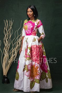 Robe Laura Maxi dress avec poches robe africaine longue