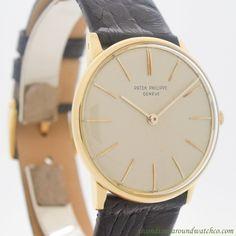 1965 Vintage Patek Philippe Ref. 3536 18k Yellow Gold watch with Original Silver…