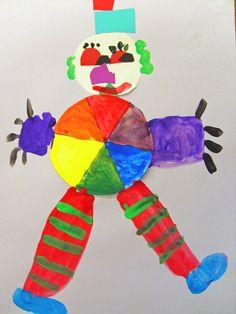 Deep Space Sparkle – Colorwheel Clown Art project. The Basics - Primary Colours