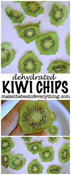 Kiwi Chips.  A sweet and tart treat.